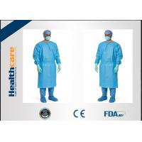 Red / Green Disposable Surgical Gowns Against Liquid Biodegradable Elastic Cuff 16-80gsm Manufactures