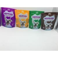 China Pet Product Packaging 4 Side Cat Food Orange Bag ODM Available on sale