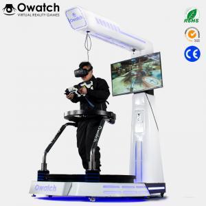 Virtual Reality Shooting Games Simulator VR Treadmill Simulator With Gun Model Manufactures