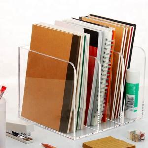 Plexiglass Acrylic Brochure Holders OEM Design Acrylic Book Case Silk Screen Printing Manufactures