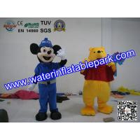 Plush Advertising Mascot Costume , Mickey And Winnie Mascot Manufactures