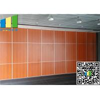 Cheap Operable Timber Partition Wall Wooden Room Partitions Aluminium Frame for sale