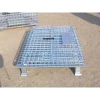 Collapsible Metal Mesh Containers Mobile Wire Mesh Stillage Wheels Optional 800*600*640mm Manufactures