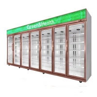 5 layers R22 Restaurant Commercial Beverage Refrigerator Manufactures