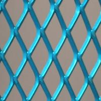 Blue pvc coating expanded metal mesh for decoration , 0.5mm - 8mm thickness Manufactures