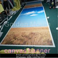 China Waterproof Chemical Fabric Canvas Banner Printing Service on sale