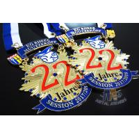 Runing Race Sports Enamel Medals Cut Out Effect Sublimated Ribbon Both Size Manufactures