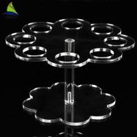 Eco - Friendly  Wedding Acrylic Cake Display Lighted Acrylic Crystal Cake Stand Manufactures