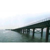 Structural Steel Bailey Bridge , Road Highway Construction Army Bailey Bridge Military Manufactures