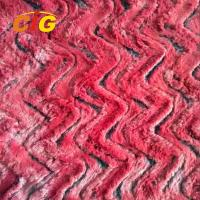 Decorative Polyester Faux Fur Fabric For Car Seat Cover / Shoes 150CM Width Manufactures
