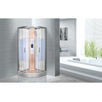 KPN2064 Customized Circle Glass Shower Cabin , Curved Corner Shower Units Manufactures