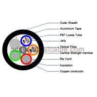 Outdoor 12 Core Armoured Fiber Optic Cable GDTA Optical Power Composite Cable Manufactures