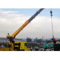 Cheap 14 Ton truck mounted telescopic boom crane Driven By Hydraulic , 35 TM for sale