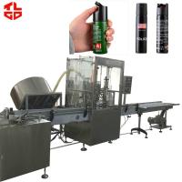 High Efficient Automatic Aerosol Filling Machine Production Line for Self Defense Spray