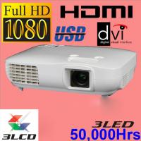 Real Full HD 3LCD Video Projector 1920x1080p High Quality Image USB Beamer LED Proyector Manufactures