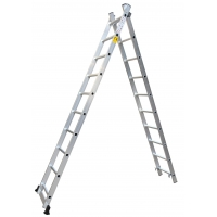 Anti Slip 7.32m 2x15 Foldable Extension Ladder Manufactures