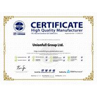 Unionfull (Insulation) Group Ltd. Certifications