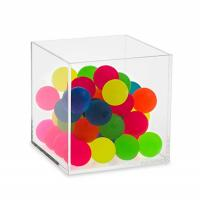 Colored 5 Side Glass Cube Display Box / Large Clear Acrylic Display Cube Manufactures
