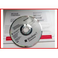 China Windows 7 professional sp1 64 bit / 32 bit DVD COA DELL OEM Product Key  activated online oem pack on sale