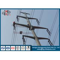 10-220KV Steel Transmission Poles For Electrical Distribution Over Headline Project Q235 Manufactures