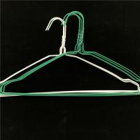 China PVC / Plastic Coated Wire Hanger Size Optional For Dry Cleaner Easy To Use on sale