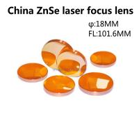 China ZnSe optical laser lens 18MM Diameter 101.6MM focus length for laser cutting machine Manufactures