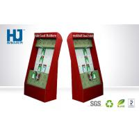 Red Environmental Cardboard Hook Display For Electronics Cell Phone Accessories Manufactures
