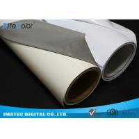 Aqueous Inkjet Media Supplies Grey Base Waterproof Self - Adhesive Matte PVC Vinyl roll Manufactures