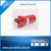 rock drill tool tapered cross bit 3 flushing length 70mm  for quarry granite Manufactures