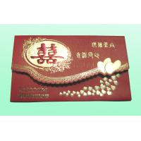 China Custom Printing Paper Card , Greeting Cards With Embossing CMYK Colors on sale
