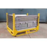 Industrial Warehouse Collapsible Wire Container Large Load Capacity Manufactures