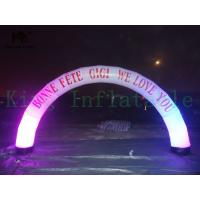 LED Decorated Color Change PVC Inflatable Arch Customized Ad For Event Or Advertising Manufactures