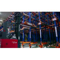 China Adjustable Dairy industrial Radio Shuttle Racking with forklift truck , 1500KG on sale