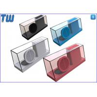 Cheap New Concept Integrated Whole Body Transparent Acrylic Stereo Sound Speaker for sale