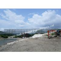 Suspension Portable Deck Truss Bridge Hot Dip Galvanized Or Painted Corrosion Resistant Manufactures