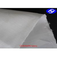 400D Plain Puncture Proof UHMWPE Fabric Fiber 125GSM For Bullet Proof Vest Manufactures