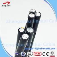 China Low Voltage XLPE Insulated Service Drop Cable Duplex Bull Messenger Wire on sale