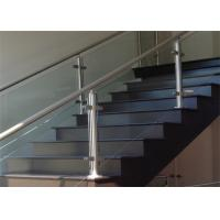 Prefabricated Stainless Steel Glass Railing with Round / Square Tube Handrail Manufactures