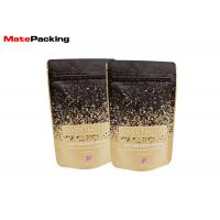 Flat Bottom Kraft Paper Food Bags Resealable Stand Up Aluminum Foil Lined Coated Manufactures