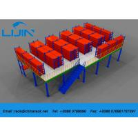 China Plywood Board Industrial Mezzanine Floors System With Staircase Custom Size on sale