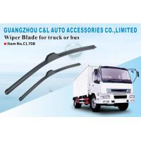 Removable Truck Soft Wiper Blade Assembly With Natural Rubber Wiping Element Manufactures