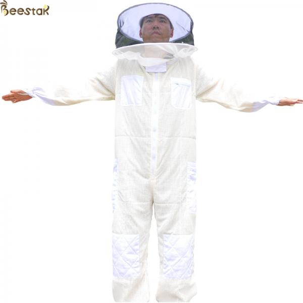 Quality Round Veil Ventilated Beekeeping Outfits Jacket Bee Keeper Cotton Suit for sale