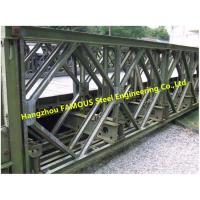 Long Span Steel Bailey Bridge , 3m Metal Modular Steel Bridge Structure Engineering Manufactures