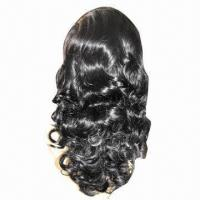 """18"""" Ladies' Wig, Made of Virgin Hair, with Special Hair Treatment Technique Manufactures"""