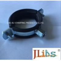 Cheap M8 M10 20mm Width combi nut clamp with EPDM rubber Cast Iron Pipe Clamp for sale