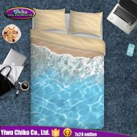 3D Higital Printed Bedding Sets with Beach Water Pattern