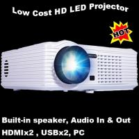 Durable Home Used LED Lamp Projector 20000 Hours Life USB VGA Proyector Manufactures