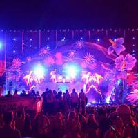 Soft Flexible LED Mesh Display Panels , Stage Backdrops LED Video Curtain Screen