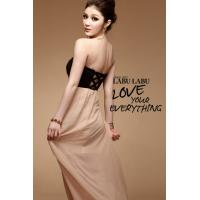 China New Fashion Women's Sexy Slim Strapless Chiffon Asymmetric Backless Long Dress on sale