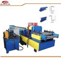 Blue C Purlin Sheet Metal Roll Forming Machine 80mm Shaft Dia 1.5mm-3.2mm Thickness Manufactures